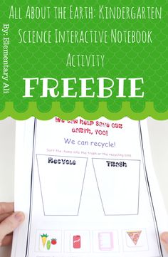 FREE All About the Earth: Kindergarten Science Interactive Notebook Activity by Elementary Ali