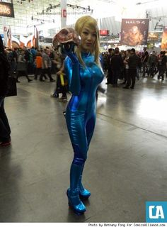 Samus and her baby Metroid, photo by Bethany Fong.