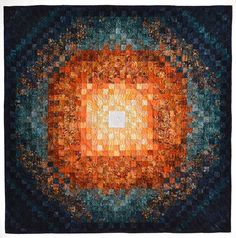 The Big Bang by Lisa Anne Giesfeldt.  Milwaukee Art Quilters, colorwash effect quilt, trip around the world variation