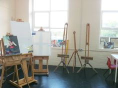 Easels and Great Big Windows