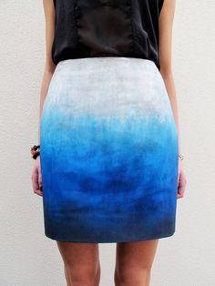 Blue Skies Ombré Skirt - DIY inspiration
