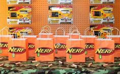 Prepare for battle…a Nerf battle, that is! Arm yourself with these 19 incredible Nerf party ideas, and you'll be on target for one awesome Nerf-inspired celebration! Find suggestions for creating a Nerf cake, cookies, push pops and an entire dessert table. Select from several great ideas for fun Nerf-inspired party favors and games.  You can even learn how to DIY your own Nerf battlefield. How cool is that?!   See Also Don't miss out on all the fun with these Mad Science Party Ideas. Your mus...