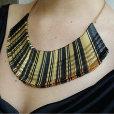 Costume ~ Egyptian necklace from bobby pins on a string.
