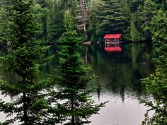 The Boat House by Kathy Weaver  On one of the many lakes in Algonquin Provincial Park in Ontario, Canada.