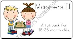 Manners II Tot Pack product from LittleAdventuresPreschool on TeachersNotebook.com
