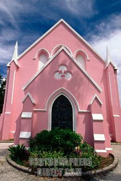 View of Pink Church, Hamilton. Pin provided by Elbow Beach Cycles http://www.elbowbeachcycles.com