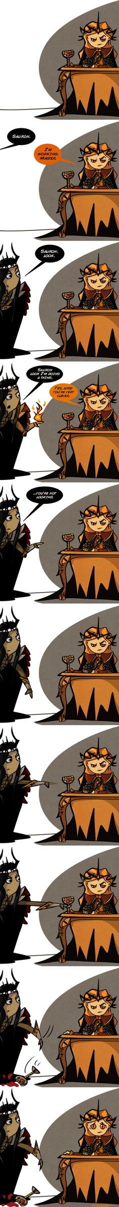 Sauron was evil even as a pupil of Melkor. So I guess Melkor had to show him what's what.