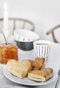 Heart shaped scones at Trendenser.se