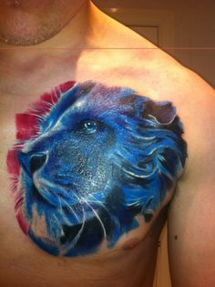 Blue Lion Tattoo