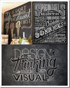 Great tips for creating chalkboard art