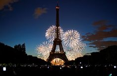 Eiffel tower with #fireworks