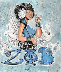 Zeta Phi Beta Sorority Inc Fine Art Print - Tu-Kwon Thomas