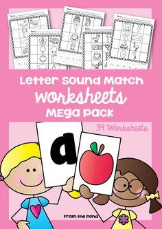 Letter Sound Match Worksheets Mega Pack