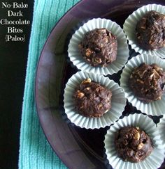 YUM! These No-Bake Dark Chocolate Bites look crazy good - and they're paleo! From Cassidy's Craveable Creations. One of the favorite features in Allergy Free Wednesday.