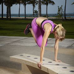 Next time you see a park bench, try a few Hop Overs...this cardio-blasting Plyometric move burns mega-calories! | health.com