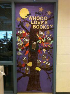 Cute October door for teachers