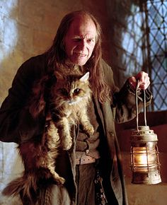 Filch and Mrs.Norris.