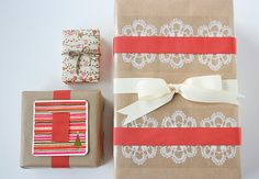 pretty wrapping idea and i have that lace tape too...