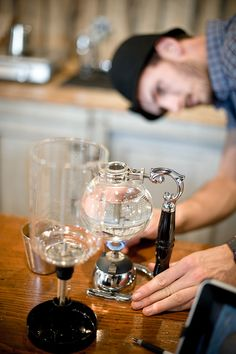 syphon pot at Stumptown coffee roasters