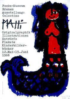 Celestino Piatti – Exhibition poster, 1966