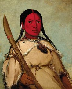 Native American George Catlin Chin-cha-pee, Fire Bug That Creeps, Wife of Pigeon's Egg Head by griffinlb, via Flickr