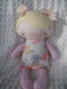 cloth doll Mary Jane a handmade cloth doll