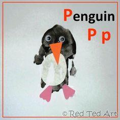 Red Ted Art's Blog » Blog Archive Handprint Alphabet P for... Penguin » Red Ted Art's Blog