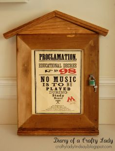 Diary of a Crafty Lady: Educational Decree -> for all Harry Potter Fans!