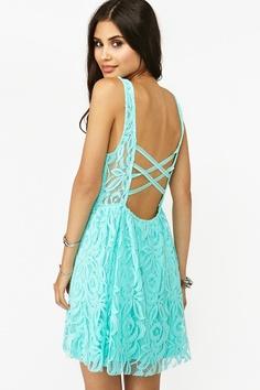 Lace Dress - Sky Blue, wantt