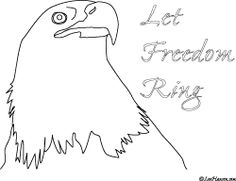 NEW patriotic bald #eagle coloring page - let freedom ring leehansen.com