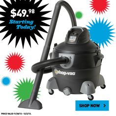 Order this Shop-Vac online while supplies last! #BlackFriday