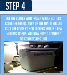 This DIY Air Conditioner Chills!  A step-by-step photo guide on how to make your own Air Conditioner