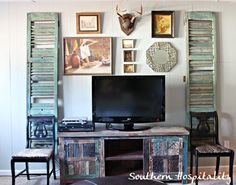 My den gallery wall. - Southern Hospitality