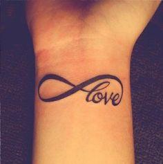 Infinity Love #Tattoo #inked #tattooart #tattooideas