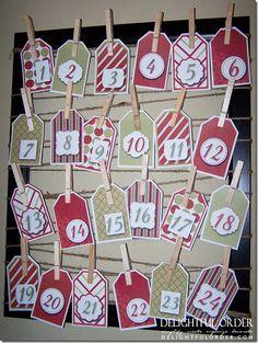 Advent calendar count down printable