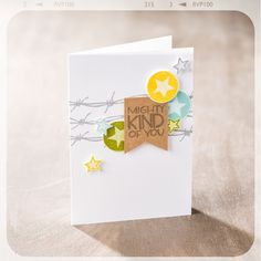 Barbed wire stamp 7-mighty-kind-card