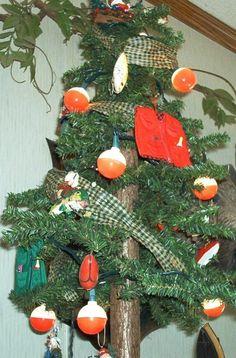 My fishing themed Christmas tree