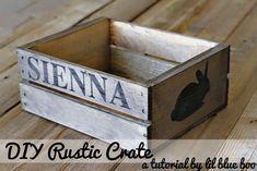 DIY Rustic Wood Crate