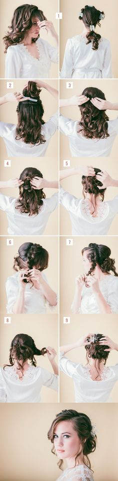 Loose braided updo tutorial weddings prom