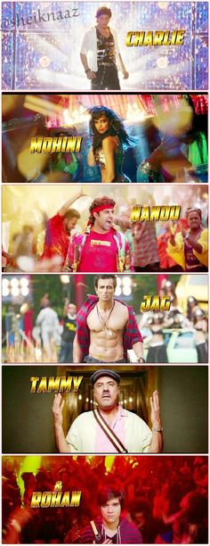 The whole team from HNY and their character names.