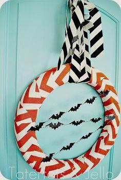 Modern Halloween Wreath