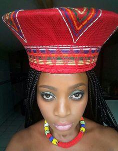 African head gear, Zulu style...