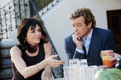 """Amy Pietz and Simon Baker on The Mentalist from """"Days of Wine & Roses""""."""