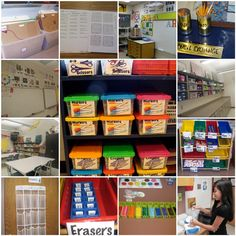 Art rooms from all over. GREAT ART ORGANIZATION ideas!!! Must Try!