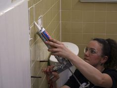 How to Cover Bathroom Tile with Wainscoting : Rooms : Home & Garden Television