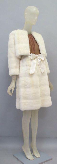 white mink fur skirt & jacket