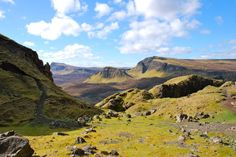 Staffin, Scotland The Quiraing - Shaped and carved by the elements, the strange rock formations and breathtaking views from this towering ridge give the landscape here a truly mystical quality.