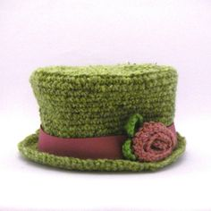 Inspiration ~ Crocheted Top Hat PDF Pattern (Sizes Newborn to Adult)