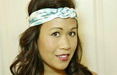 DIY T shirt headband sailor knot no sew knotted