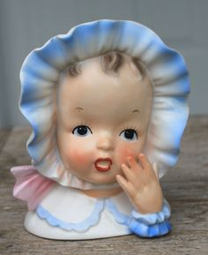 Vintage Baby Head Vase